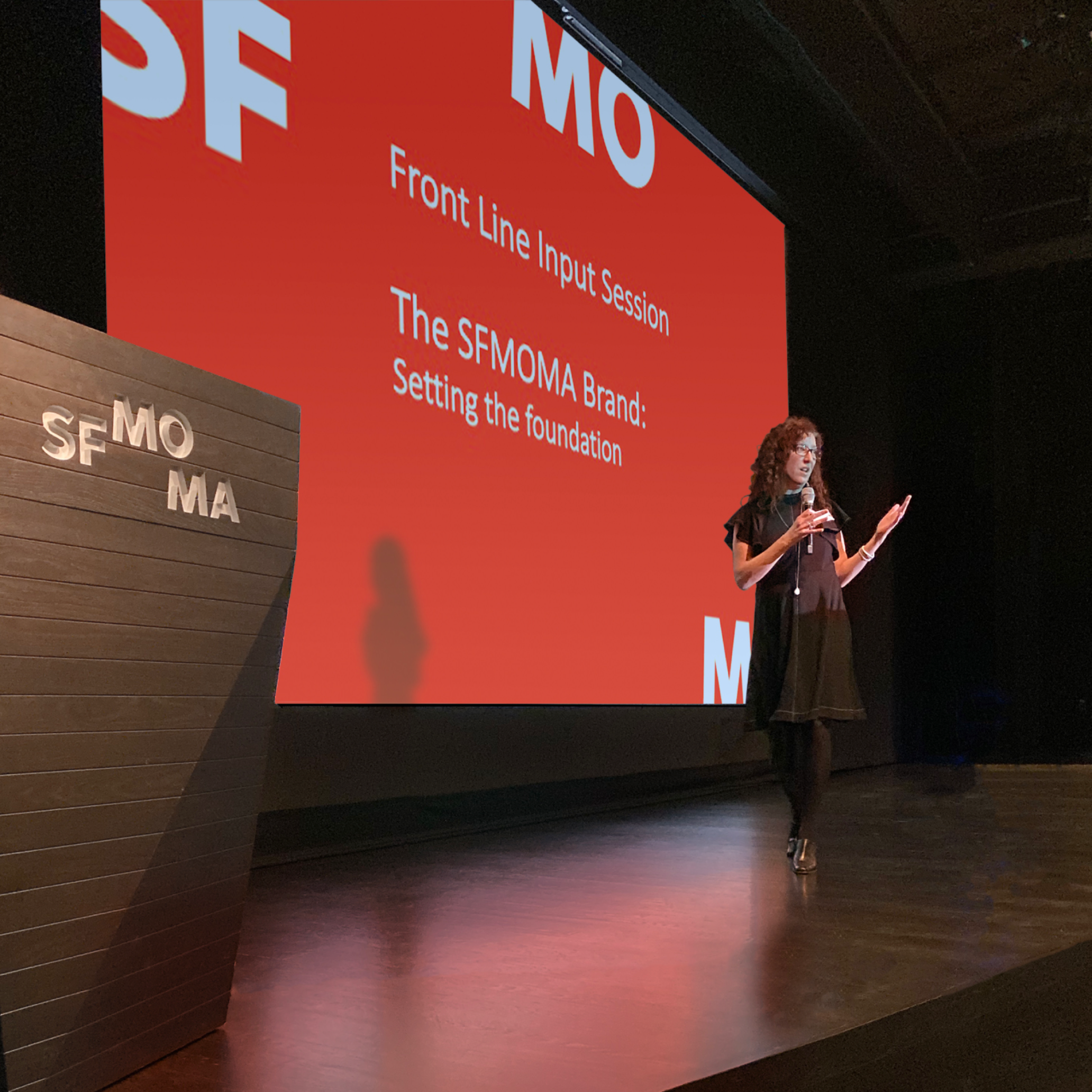 Shannon leading a brand workshop at SFMOMA